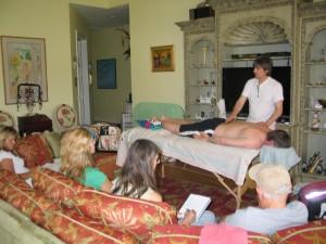 Tom Woloshyn Giving a Vita-Flex Treatment